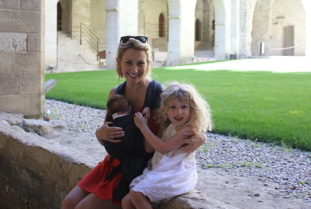 Wander Mum tries out the Kangawrap at Popes Palace in Avignon