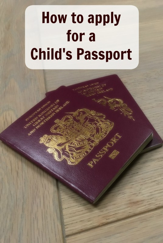 How to a apply for a child's passport, Great Britain