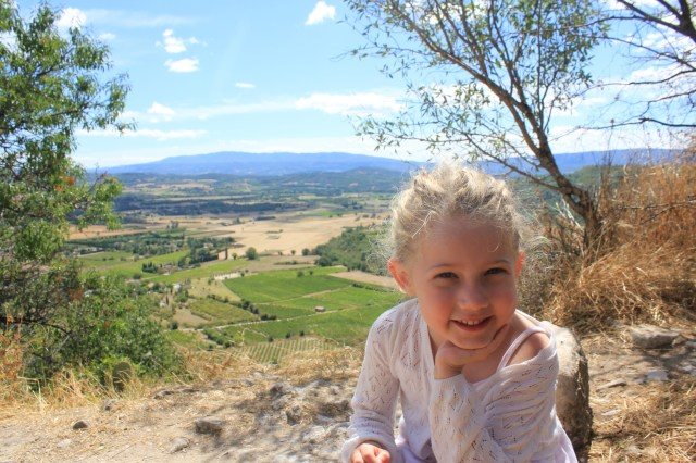Mrs T on holiday in Gordes, France