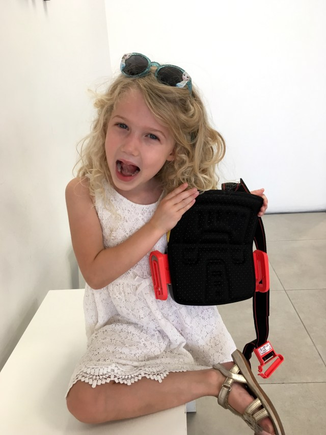 The mifold grab and go booster seat