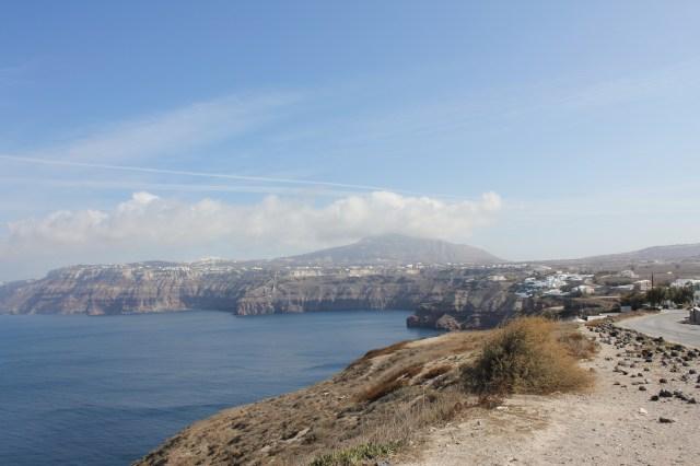 Caldera in Santorini, Greece