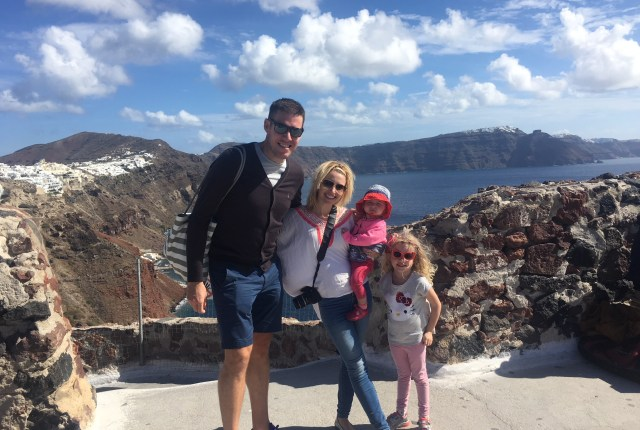 Family holiday in Santorini, Oia