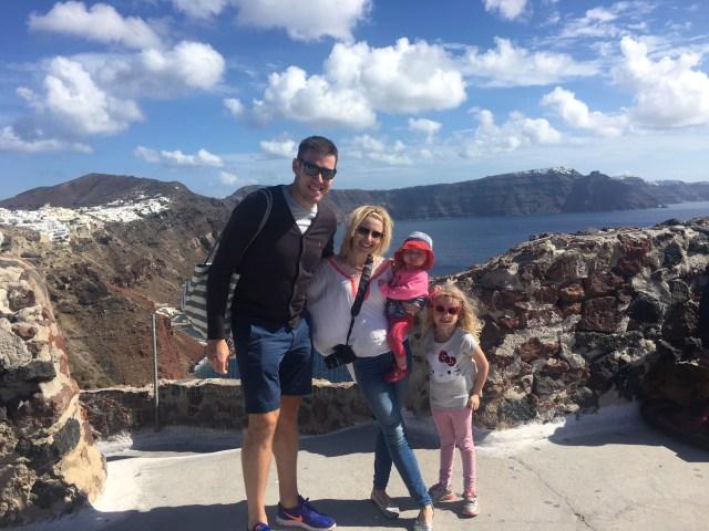 Family holiday in Santorini, Oia