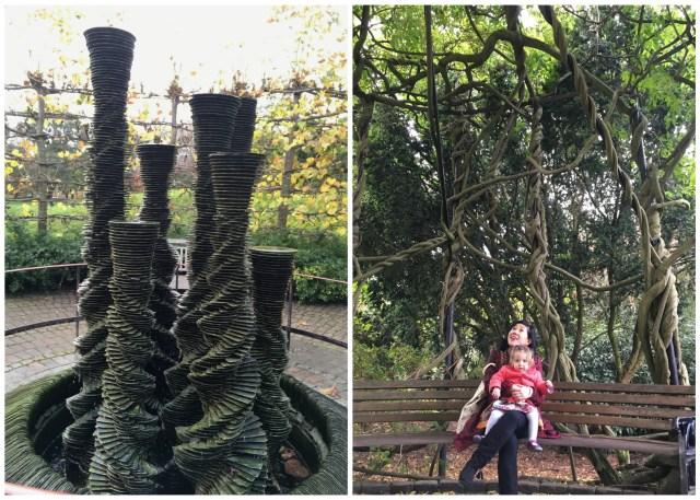Kew Gardens secluded garden, London