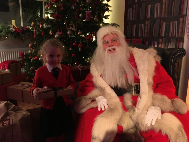 Meeting Father Christmas in residence, London