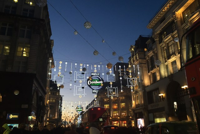 Christmas lights on Oxford Street, London