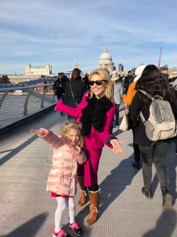 Wander Mum and Mrs T on Millennium Bridge, London