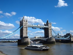 Tower Bridge, London by boat