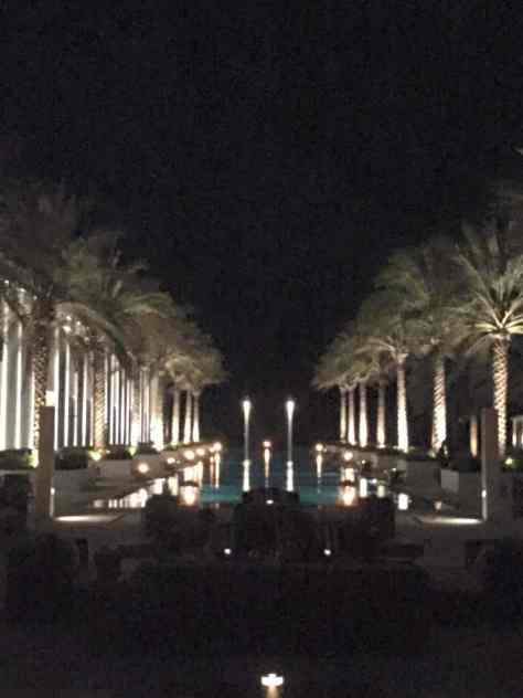 The Long Pool at Night - Babymoon destination