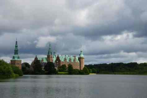 Our first view of Frederiksborg Castle Copenhagen
