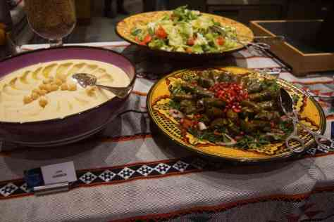 Arabic food at the Ramadan Tent Suhoor at the Grand Hyatt Doha