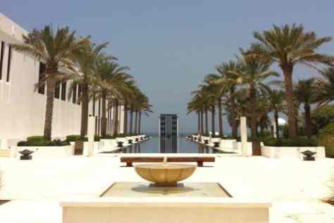 The long pool at the Cheri muscat oman the perfect end escape
