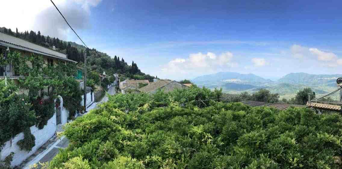 Corfu-Trail - km 64 - Ausblick von Dafnata ins Landesinnere