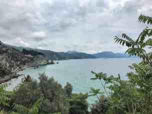 Corfu-Trail - km 92 - Blick zurück entland der Westküste von Korfu