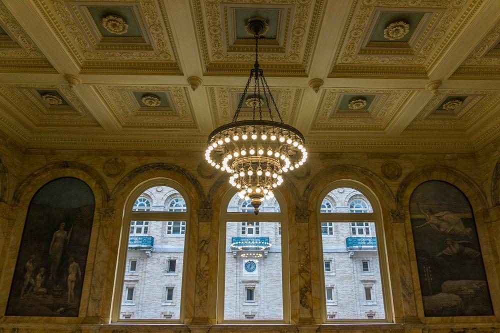 Visit the Boston Public Library near Newbury Street.