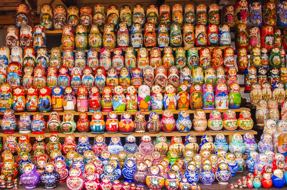 Photo of Russian dolls in Moscow