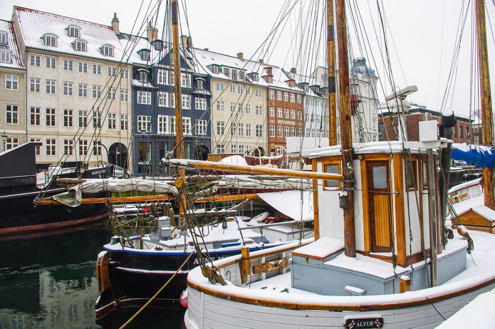 Nyhavn neighborhood in Copenhagen