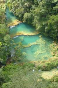 Semuc Champey Limestone Pools from above