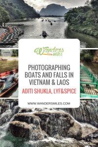 Photographing boats & falls vietnam & laos