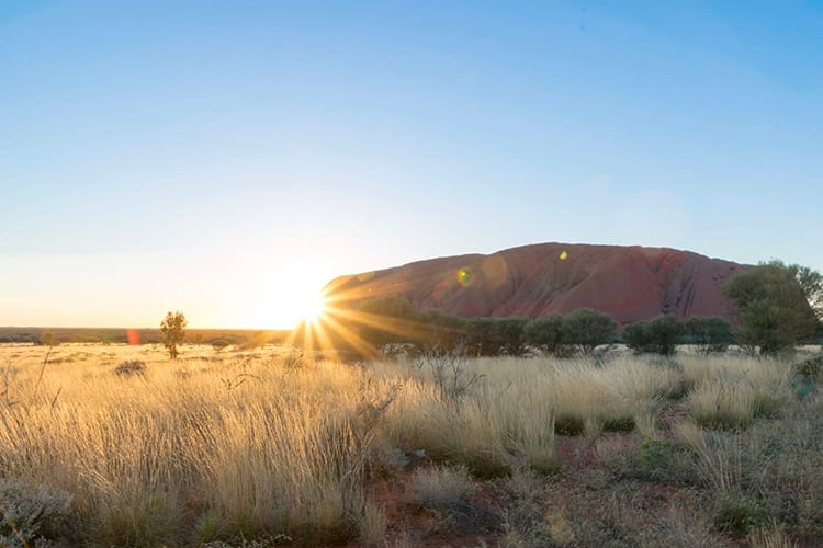 Sunrise at Uluru in Australia