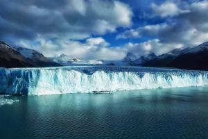Waterfalls at Perito Moreno in Argentina