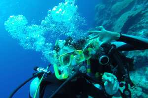Scuba diving in the Galapagos Islands