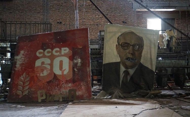 Soviet propaganda at Chernobyl