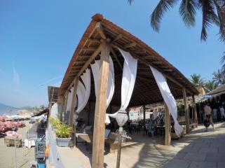 One of the cafes by the beach