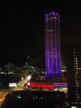 Komtar tower at night