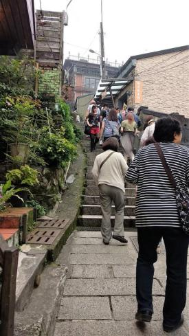 jiufen old street stairs