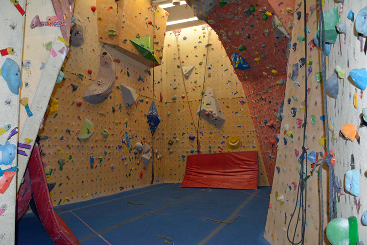 An image of the climbing gym at the Sally Borden Fitness Centre