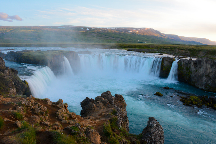 Image of Iceland's Godafoss Waterfall (Waterfall of the Gods)