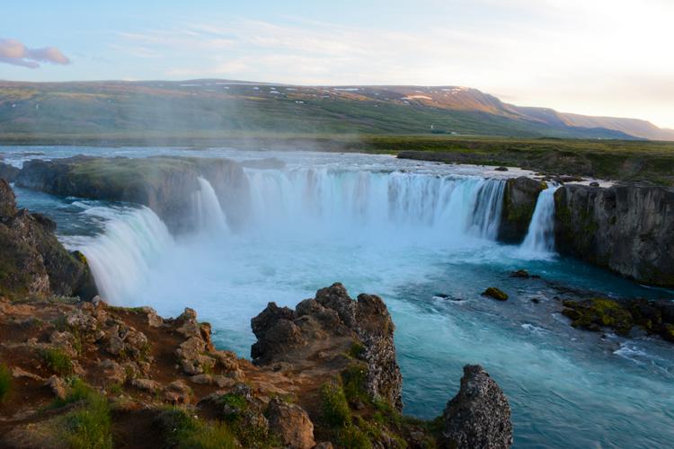 Image of Iceland's Godafoss Waterfall (Waterfall of the Gods)