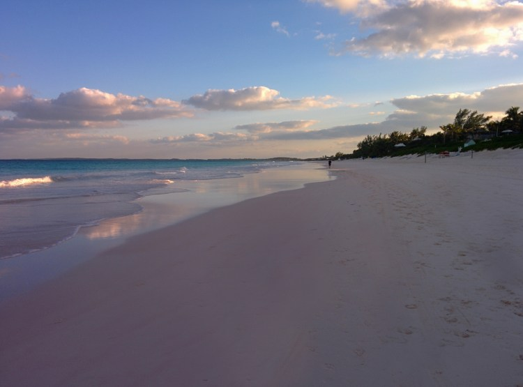 An image of a pink sand beach on Harbour Island, Bahamas