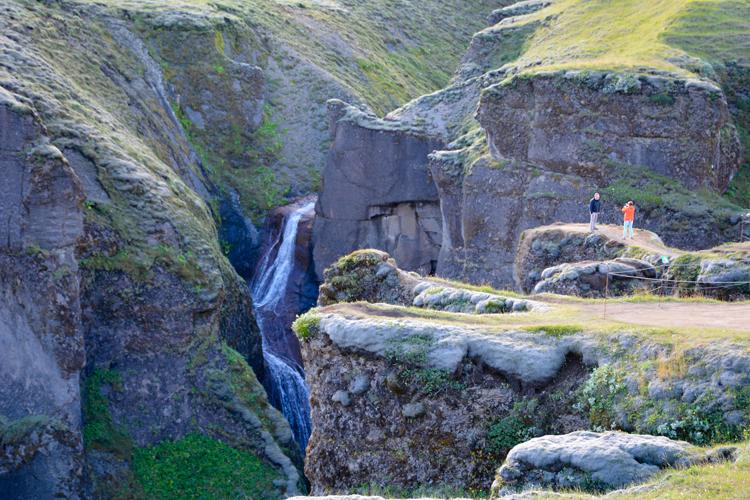Image of Fjaðrárgljúfur Canyon in Iceland