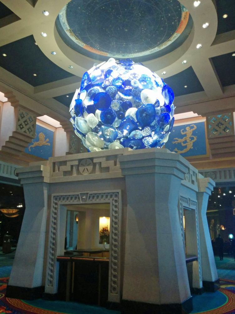 An image of glass art at the Atlantis Resort, Paradise Island, Bahamas