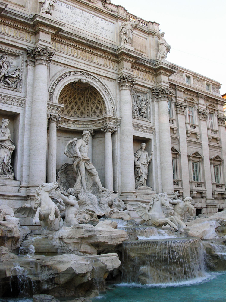 An image of the Trevi Fountain in Rome, Italy