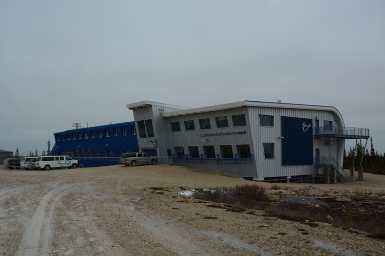 An image of the Churchill Northern Studies Centre near Churchill, Manitoba. The centre offers Churchill polar bear tours.