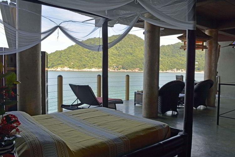 An image of a bedroom at Casa Pericos in Yelapa - Jaslico Mexico - Yelapa Beach