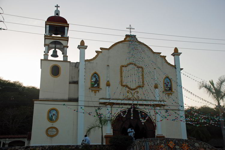 An image of La Crucecita Catholic Church of Huatulco - Day of the Dead festival - Dia de los Muertos