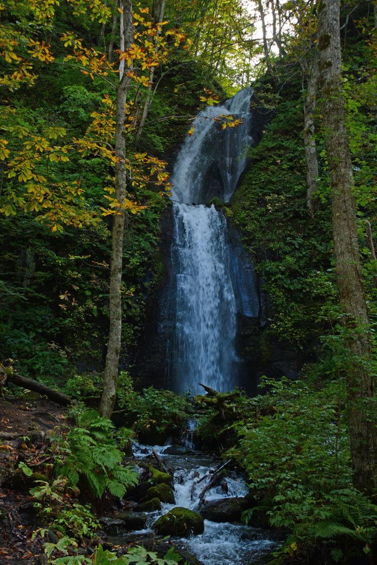 Image of a Kumoi no Taki Waterfall on Oirase Stream near Aomori, Japan - Lake Towada and Oirase Stream