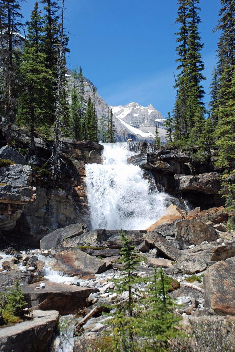 An image of Shadow Lake Falls in Banff National Park - Shadow Lake Lodge