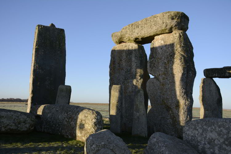 A close up image of the stones at the Stonehenge site near Salisbury, UK - Stonehenge inner circle tours