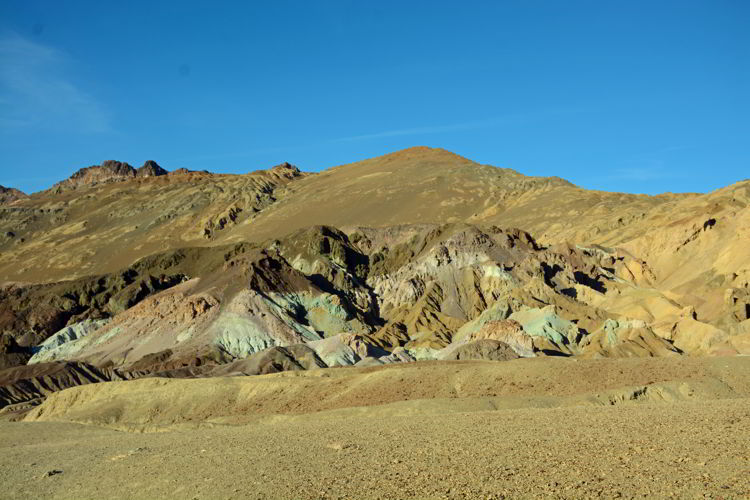 An image of Artist's Palette in Death Valley National Park in California - visiting Death Valley