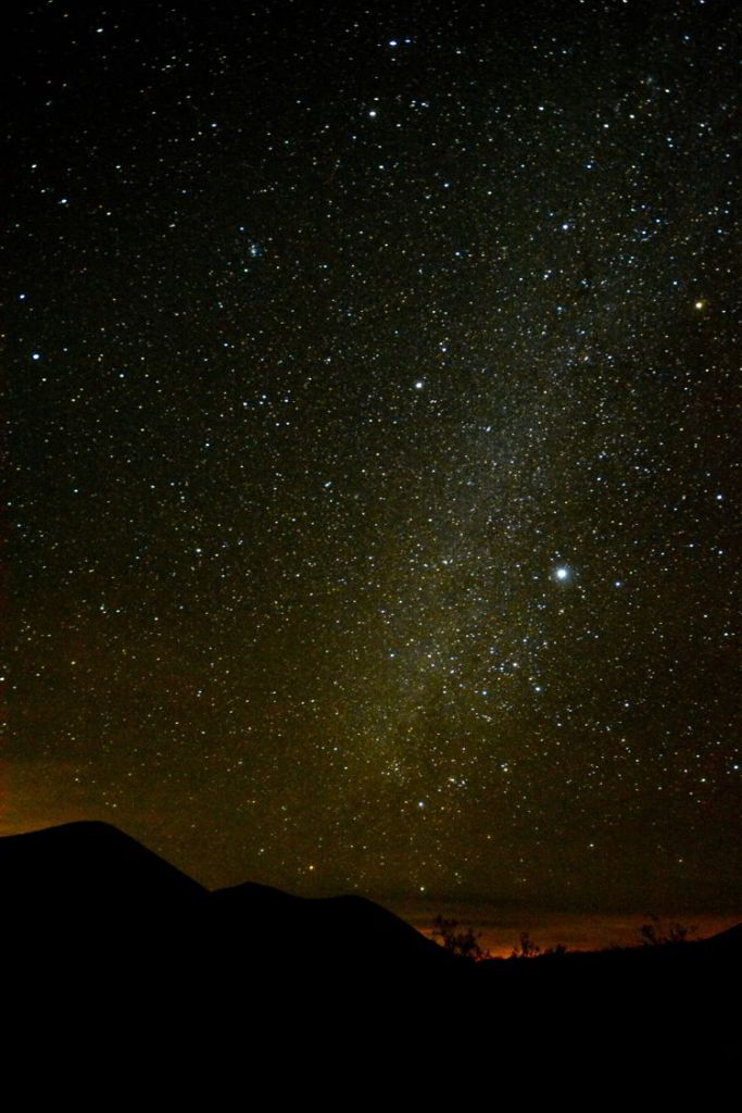 An image of the night sky in Death Valley National Park in California - visiting Death Valley