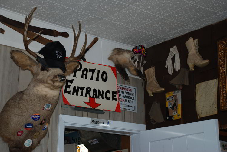 An image of the inside of the Last Chance Saloon in Wayne, Alberta near Drumheller, Alberta