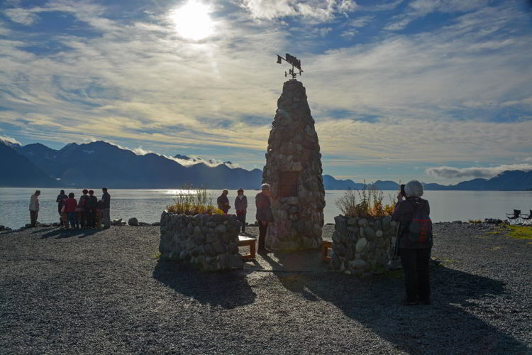 An image of the Founder's Monument in Seward, Alaska USA