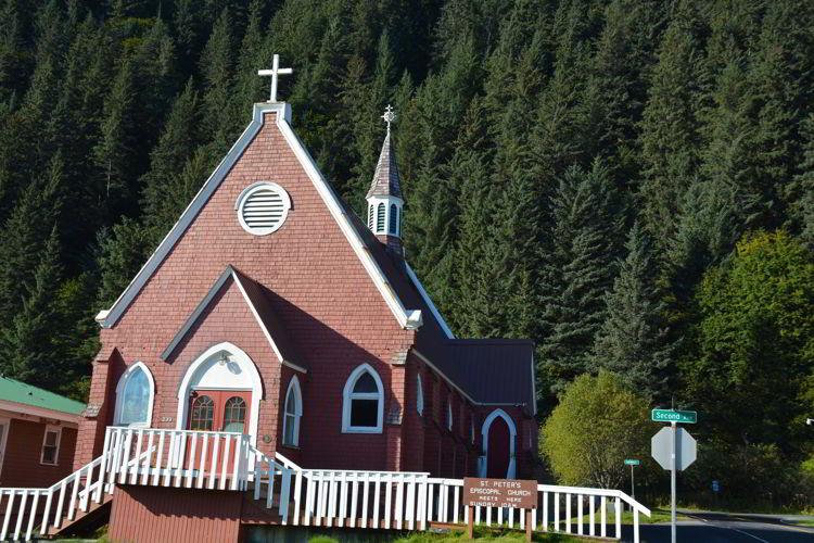 An image of St. Peter's Church in Seward, Alaska USA