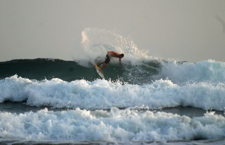 An image of a surer at Playa Hermosa Beach - surfing in Costa Rica