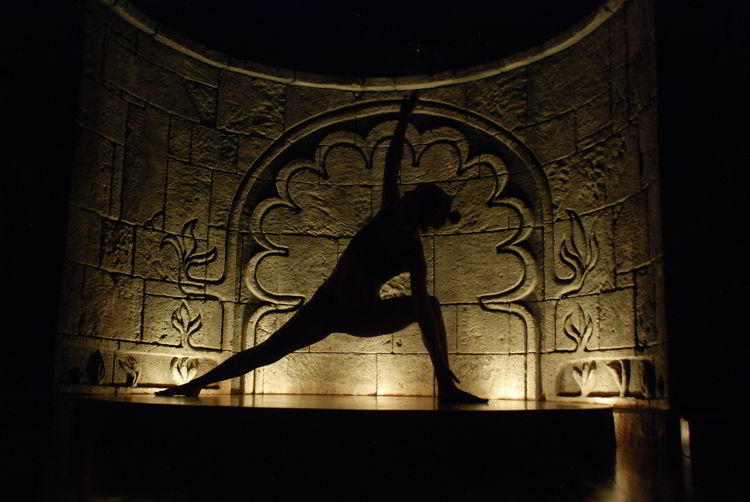 An image of someone holding a yoga pose at Anamay Resort in Costa Rica.